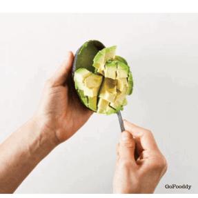 avocado scooping
