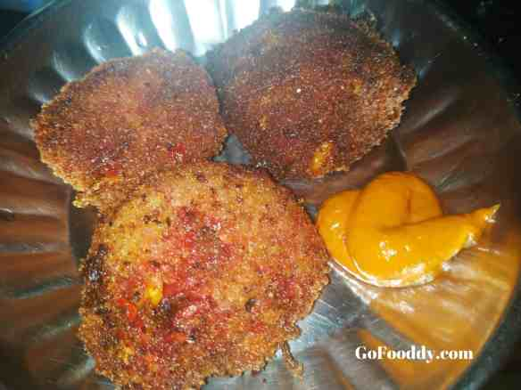 Breadcrumb fritters vegetable