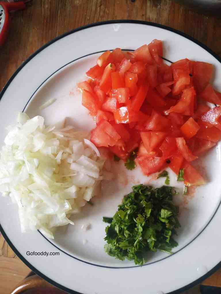 Ingredients for Pav Bhaji