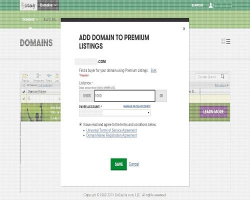 How To Do Godaddy Premium Listing