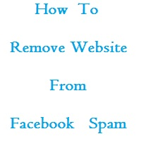Remove Website from Facebook spam