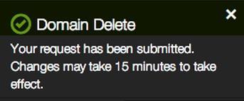 Delete Domain Name registration 4