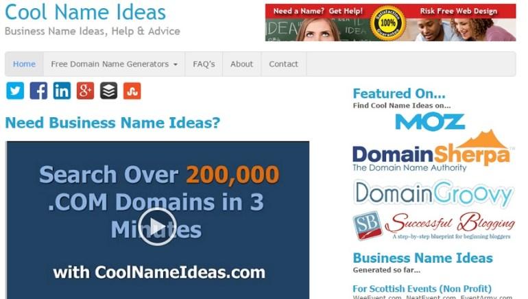 domain name generator cool name ideas
