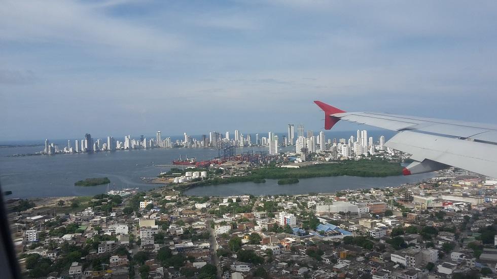 Cartagena aus der Luft