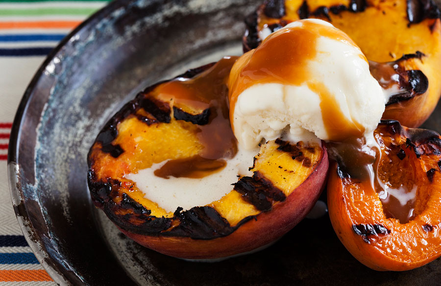 Sweet Grilled Peach & Apricot