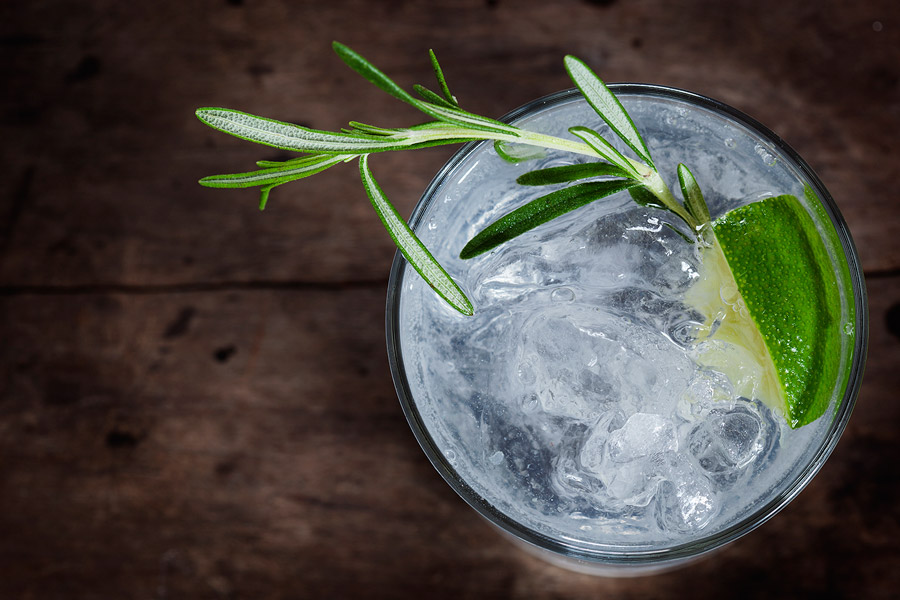 Rosemary Infused Vodka Tonics