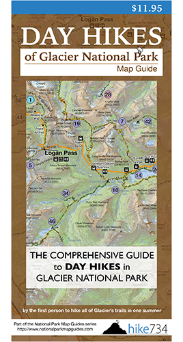 Day Hike Map Glacier National Park