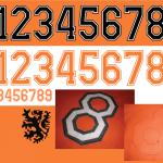 rugnummers 1974
