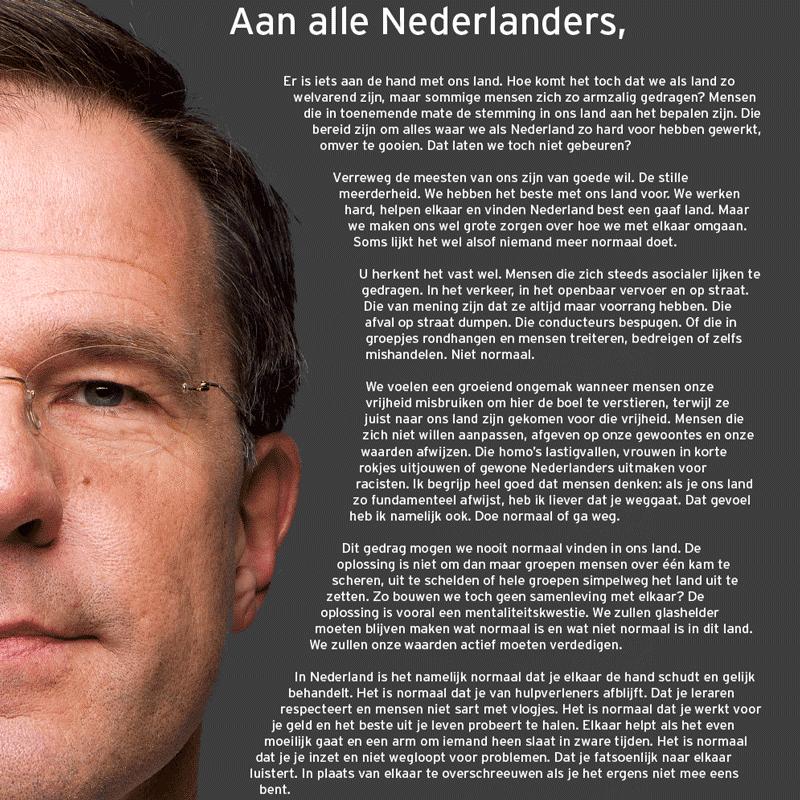 Brief Mark Rutte
