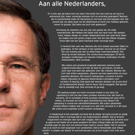 Brief Mark Rutte