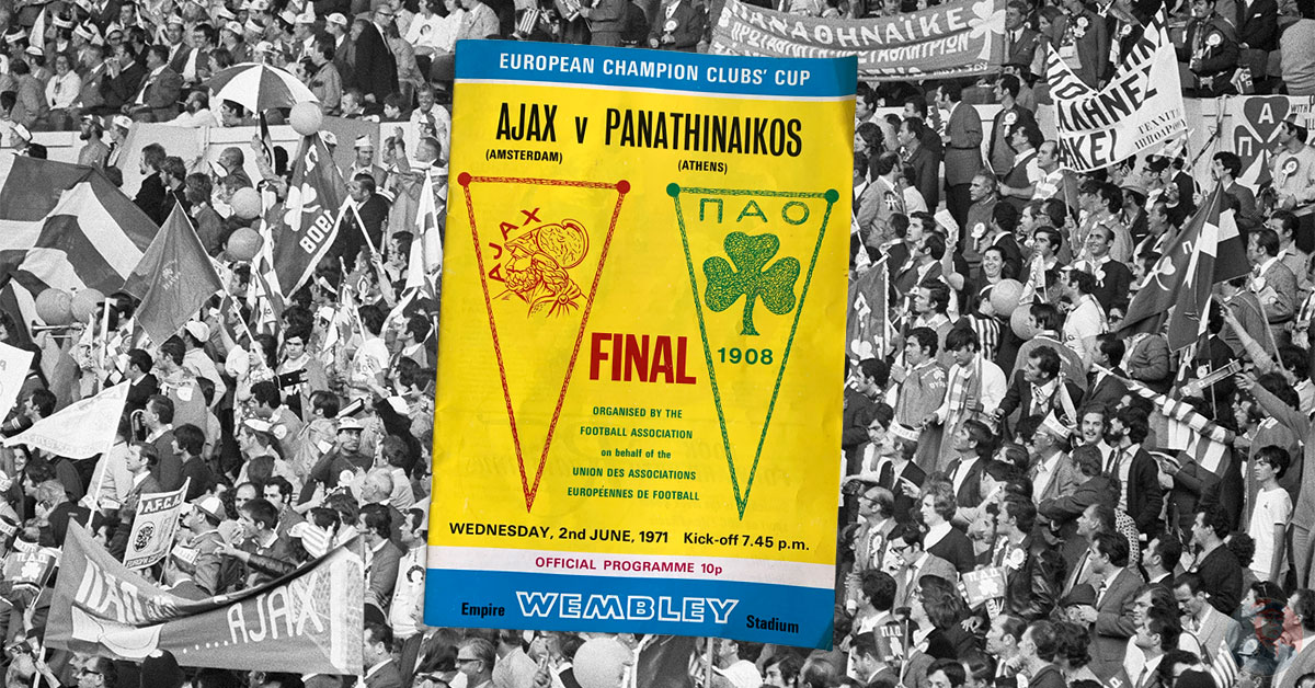 Ajax - Panathinaikos 1971 Wembley Londen