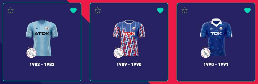 Ajax uitshirt Top3