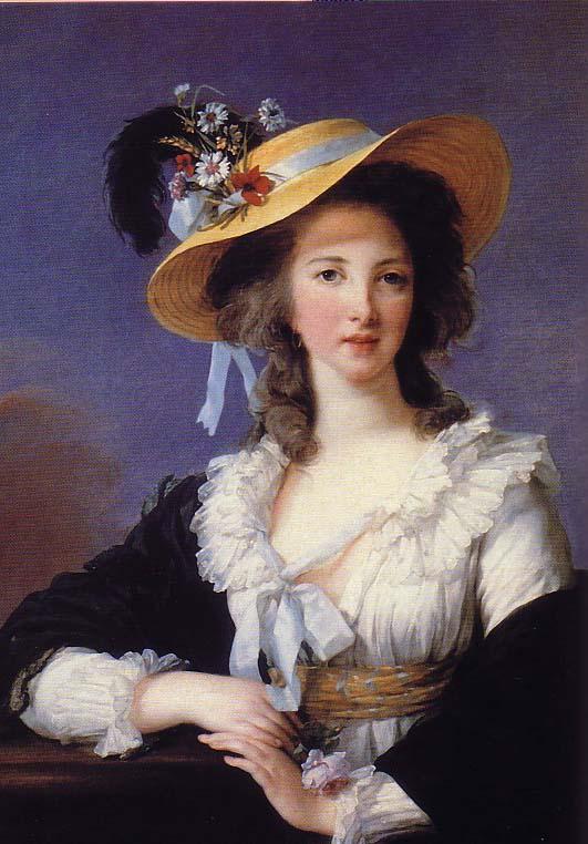 1782? Yolande Gabrielle Martine de Polastron, Duchesse de Polignac by Elisabeth-Louise Vigee-Lebrun (Wadsworth Atheneum, Hartford, Connecticut) BG