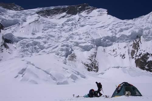 Salita alla via normale dell'Annapurna, da nord. Campo 2