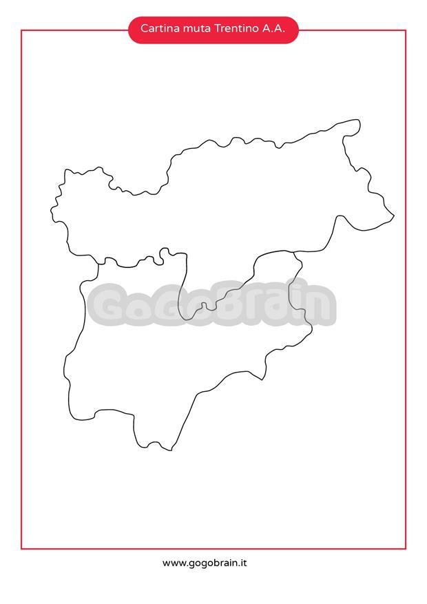 Cartina Muta Trentino Alto Adige.Carta Muta Del Trentino Alto Adige Gogobrain