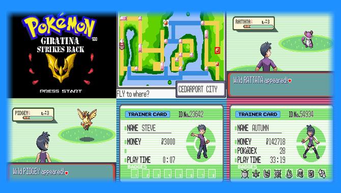 pokemon gba rom hacks with character customization