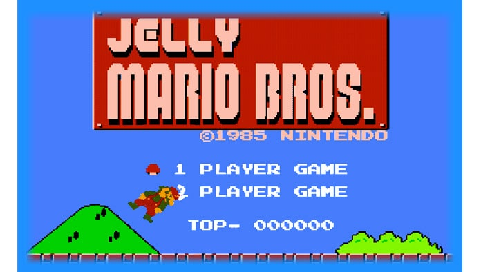 jelly mario  browser game  go go free games