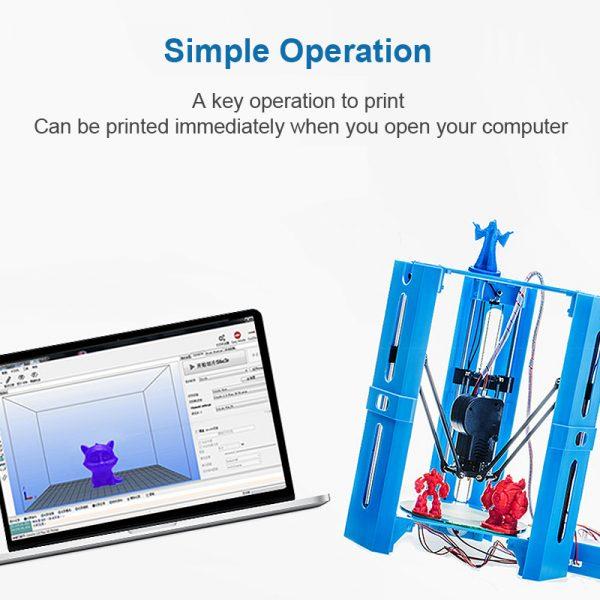 Mini 3D Drucker für den Schreibtisch Super Gadget + 22m Material