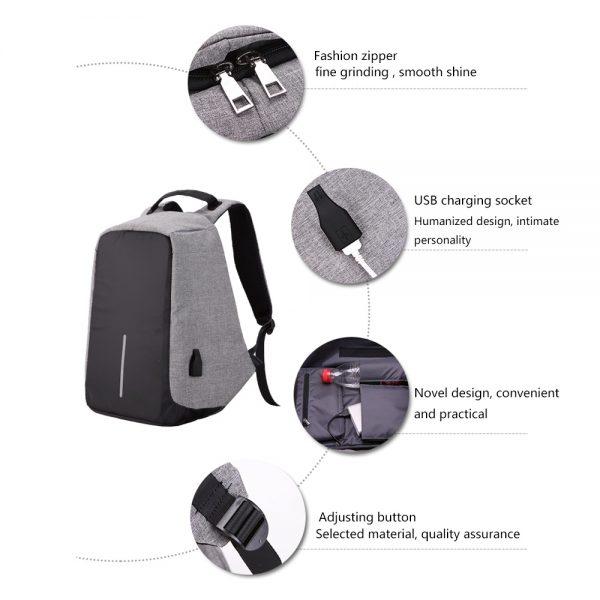 Multifunktions, Antidiebstahl Rucksack, USB Dock