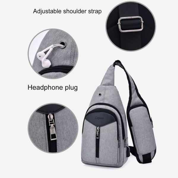 Stylische Schultertasche mit externer USB Docking Station