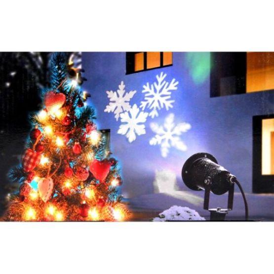 Schneeflocken Projektor Weihnachtsdeko-Strahler