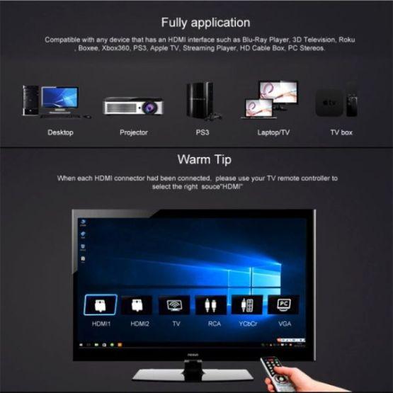5m HDMI 2.0 Version 4K 1080P Aluminiumlegierung vergoldete Stecker