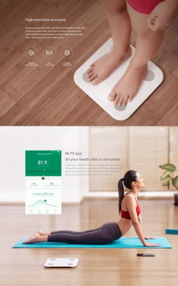 Xiaomi Körperwaage Smart Scale Android und iOS Global Version
