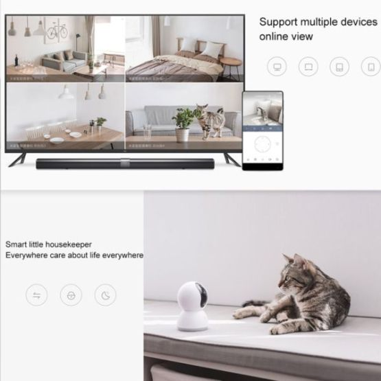 Xiaomi 360° 720P HD WiFi IP Smart Camera, Support Motion Detection & Night Vision & TF Card