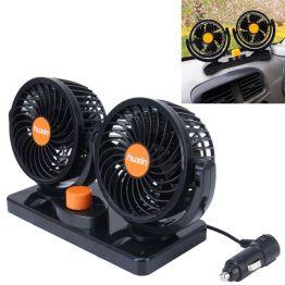 HUXIN Doppelventilator 360° Einstellbar 24V DC