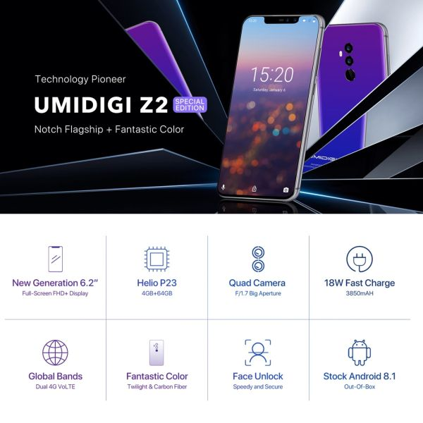 UMIDIGI Z2, Special Edition, Global Dual 4G, 4GB+64GB