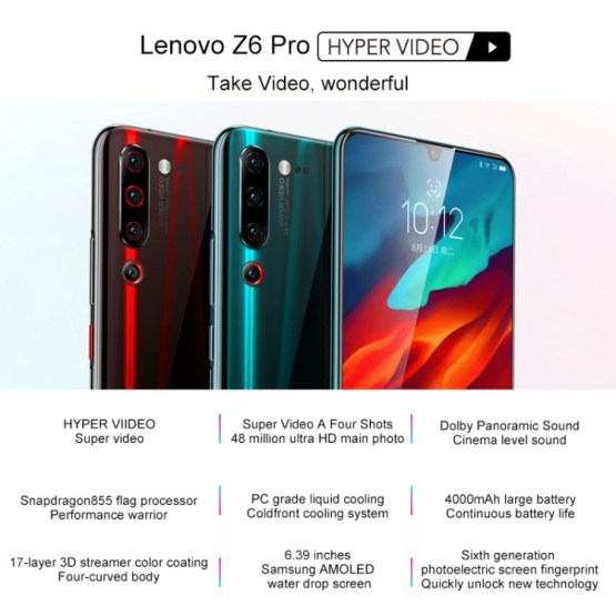 Lenovo Z6 Pro 8GB+128GB Qualcomm Snapdragon 855