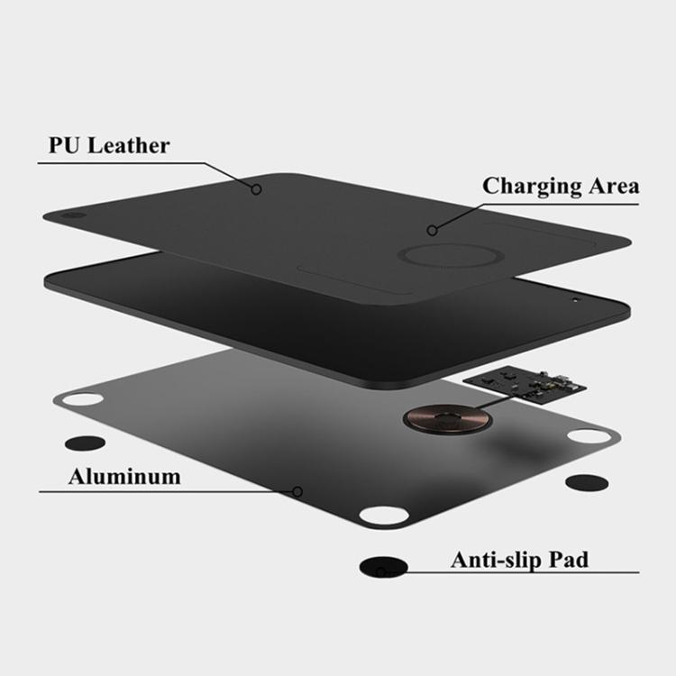 QI Wireless Charging Mouspad Kabellos Laden 10W