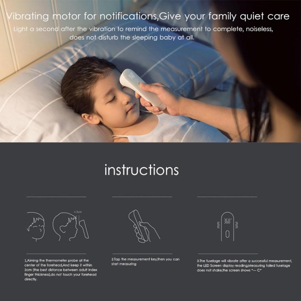 Xiaomi iHealth Fieberthermometer Kontaktlos mit Quick Test Funktion