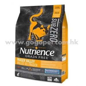 Nutrience Sub Zero 紐翠斯 凍乾脫水鮮雞肉無穀物 雞肉+火雞+海魚 全貓配方