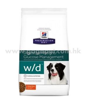 Hill's Prescription Diet - w/d 低脂犬糧 - 適合有糖尿病或胃腸疾病犬隻 (行貨)