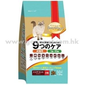 SMARTHEART 金裝 成貓室內配方貓糧 (雞肉+飯味) 1.2kg