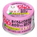 CIAO 吞拿魚雞肉+木魚片+元貝 貓罐頭