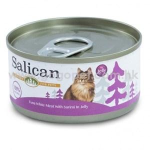 Salican森林罐 - 白肉吞拿魚蟹肉啫喱貓罐頭 - 85g (紫) 主食罐