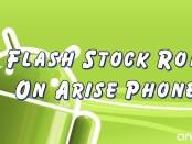 Flash Stock Rom on Arise