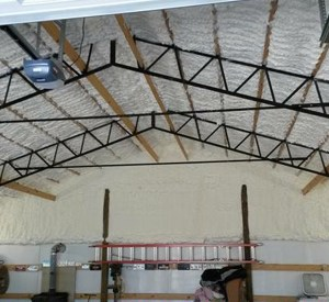 Go Green Spray Foam applied to ceiling