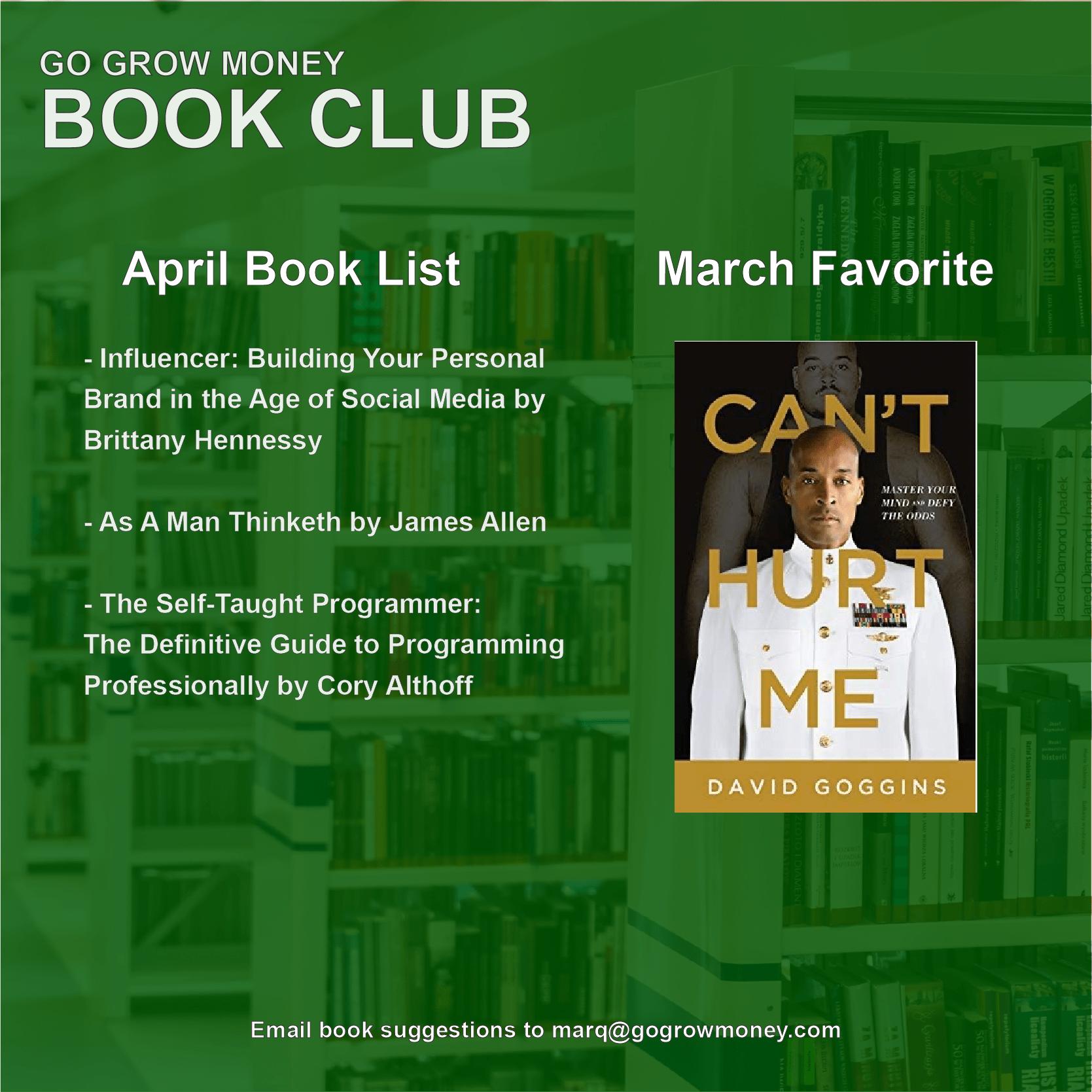 April Book Club - Go Grow Money