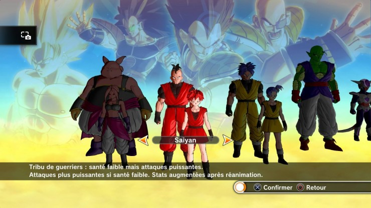personnages dragon ball xenoverse