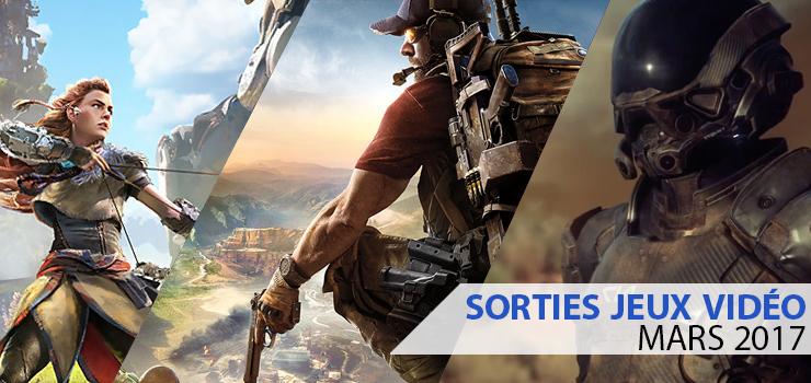 sorties jeux vidéo mars 2017