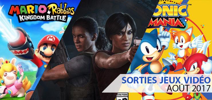 sorties jeux video aout 2017