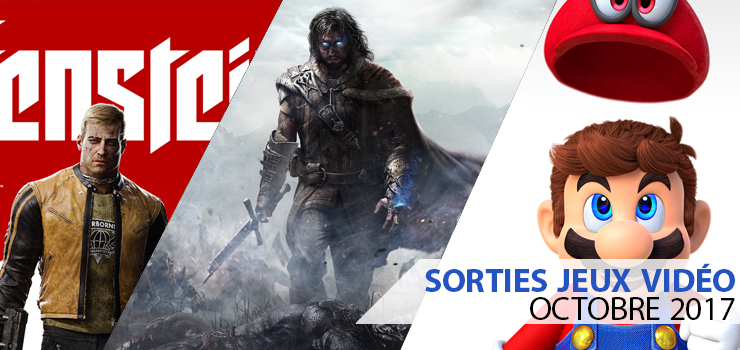 sorties jeux video octobre 2017