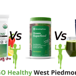 Athletic Greens Vs Amazing Grass vs OrganiGreens Comparison Guide by Go Healthy West Piedmont Staff