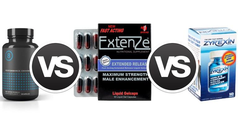 ExtenZe Vs Zyrexin vs Performer 8 Comparison guide by GoHealthy Wesit Piedmont