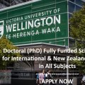 Victoria University of Wellington Doctoral Scholarship New Zealand