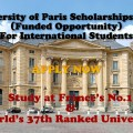 University of Paris Scholarships 2021