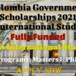 Colombia Government Scholarships 2021